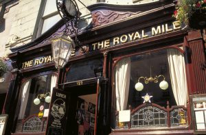 The Royal Mile Pub, Edinburgh, Lothian, Scotland.